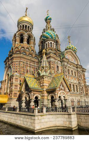 Saint- Petersburg, Russia - October 03, 2016: Church Of The Savior On The Spilt Blood, Saint Petersb