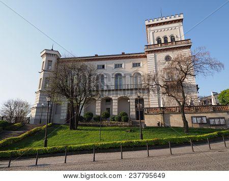 Belsko-biala, Poland On April 2018: Scenic Sulkowski Castle In Historical European City Center At Em