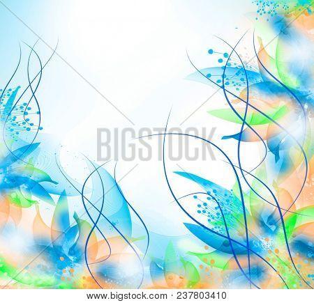 Floral romantic tender background