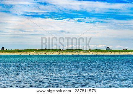 Beautiful Landscape Of Atlantic Ocean Beach Cape Cod Massachusetts Us