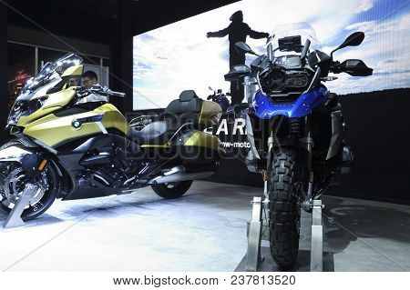 Nonthaburi,thailand - April 6, 2018: The Bmw R 1200 Gs, Adventure Model For Off-road Performance And