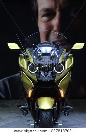 Nonthaburi,thailand - April 6, 2018: The Bmw K 1600 B Is The Motorcycle For Your Journey. In Concept