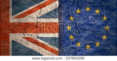 Image Relative To Politic Relationships Between Britain And European Union. Great Britain And Europe