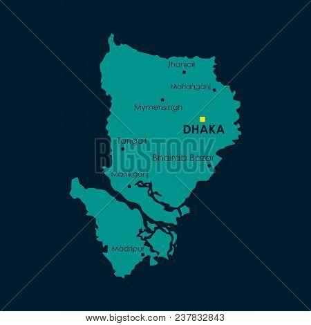 Modern Map - Dhaka Bd Vector & Photo (Free Trial) | Bigstock