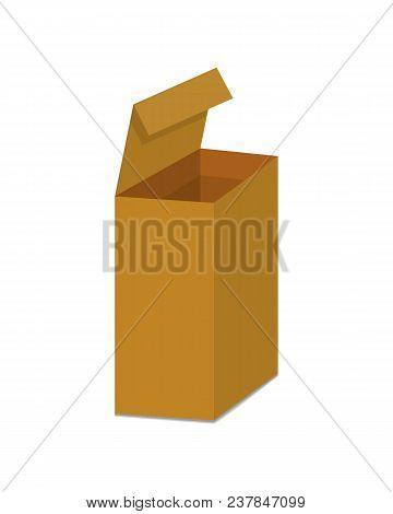 Carton Box. Delivery Packaging Vector Illustration Isolated