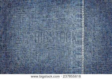 Dark Blue Jeans Texture. Denim Jeans Texture, Denim Jeans Background With A Seam. Jeans Fashion Desi