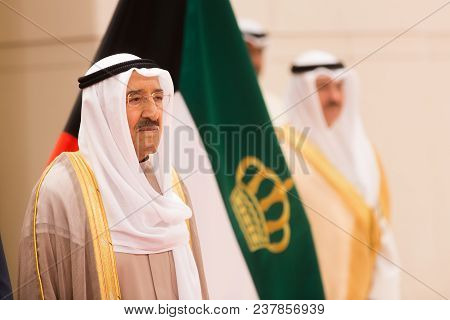 Kuwait City, Kuwait - 18 Mar 2018: Emir Of The State Of Kuwait And Commander Of The Kuwait Military