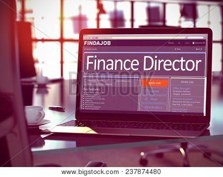 Finance Director - Get A New Employment Here. Head Hunting Concept. 3d Illustration.