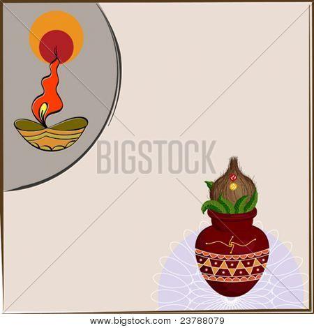 Divine Kalash diwali Greeting