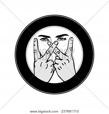 Hand Drawn Male Hands Vector Photo Free Trial Bigstock