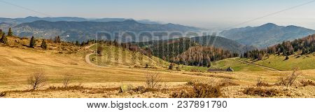French Landscape - Vosges. View From The Petit Ballon In The Vosges (france) Towards The Black Fores