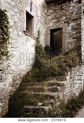 Vintage Destroyed Stairs On The House