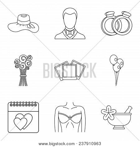Life Companion Icons Set. Outline Set Of 9 Life Companion Vector Icons For Web Isolated On White Bac