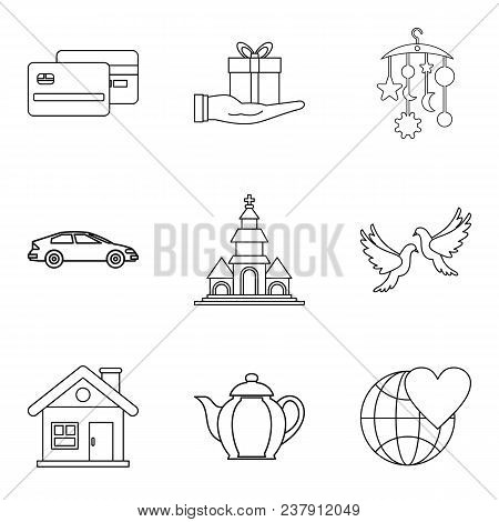 Companion Icons Set. Outline Set Of 9 Companion Vector Icons For Web Isolated On White Background