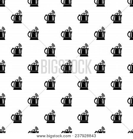 Electric Kettle Pattern Vector Seamless Repeating For Any Web Design