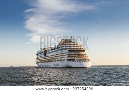 Istanbul - September 9, 2016: Passenger Ship Aida Aura On September 9, 2016 In Istanbul. A 203 Mt Lo
