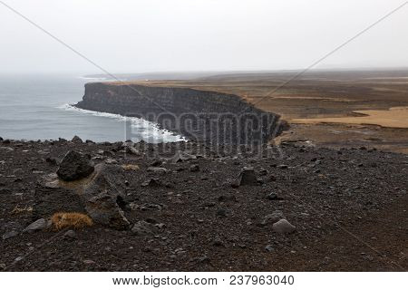 The Iconic Krisuvikurberg Cliff On The Southern Peninsula In Iceland