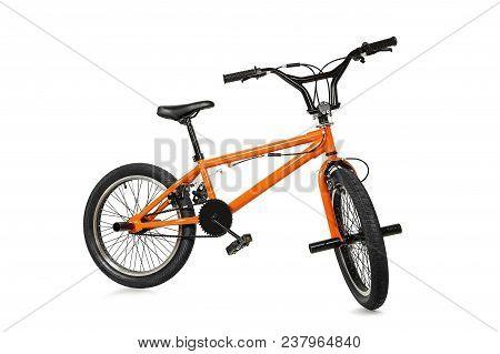 Orange Bmx Bike Isolated On White Background