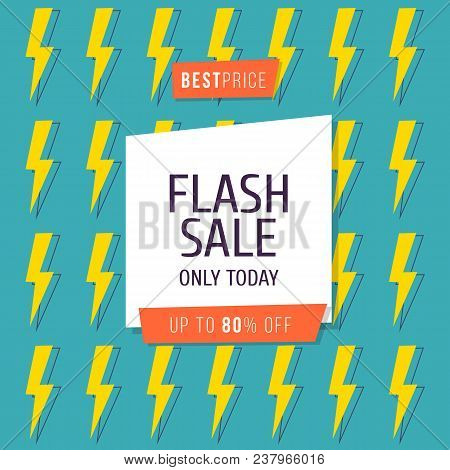 Flash Sale Banner Template Design, Big Sale Special Up To 80 Percent Off. Vector Illustration