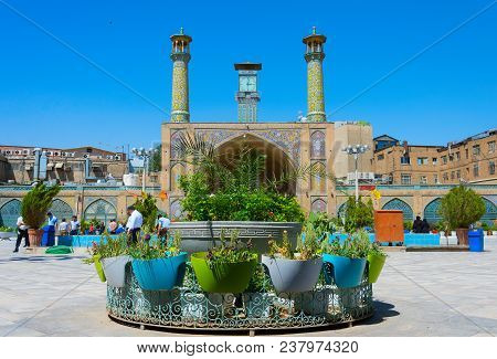 Tehran, Iran - May 22, 2017: The Shah Mosque, Also Known As The Imam Khomeini Mosque Is A Mosque In