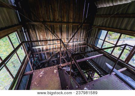 Interior Of Farm Elevator In Collective Farm Near Zymovyshche Ghost Village In Chernobyl Exclusion Z