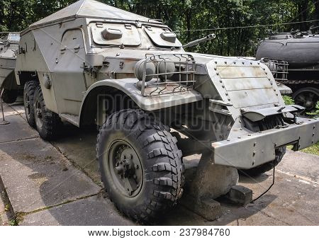 Warsaw, Poland - June 19, 2006: Soviet Btr-152 Armored Transporter At Open Air Exhibition In Front O