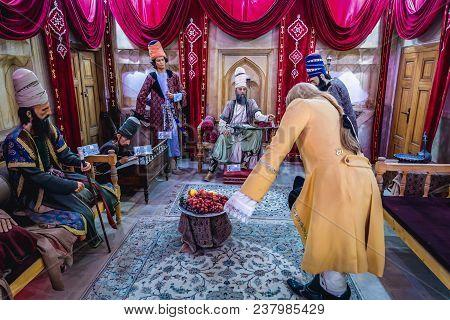 Shiraz, Iran - October 23, 2016: Wax Sculptures In One Of The Halls Of Karim Khan Citadel In Shiraz