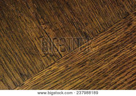 Oak Grain Veneer Texture Background, Dark Black Brown Natural Horizontal Scratched Textured Diagonal