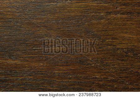 Oak Grain Veneer Texture Background, Dark Black Brown Natural Horizontal Scratched Textured Pattern,