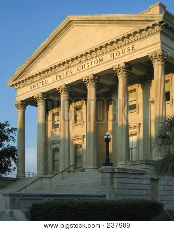 U. S. Custom House, Superb Roman Revival Building