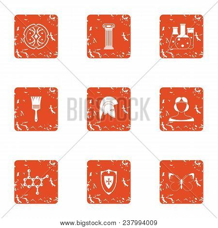 Opiate icons set. Grunge set of 9 opiate vector icons for web isolated on white background poster