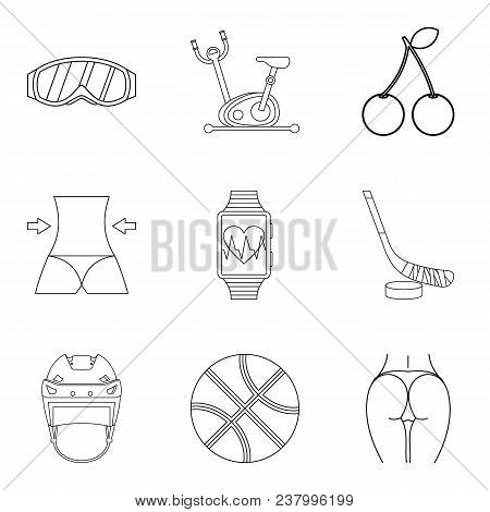 Well Again Icons Set. Outline Set Of 9 Well Again Vector Icons For Web Isolated On White Background