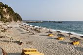 Agios Ioannis village and beach at Pelion in Greece poster