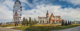 Sochi, Russia - February 25, 2017: Panorama Of Sochi Park.