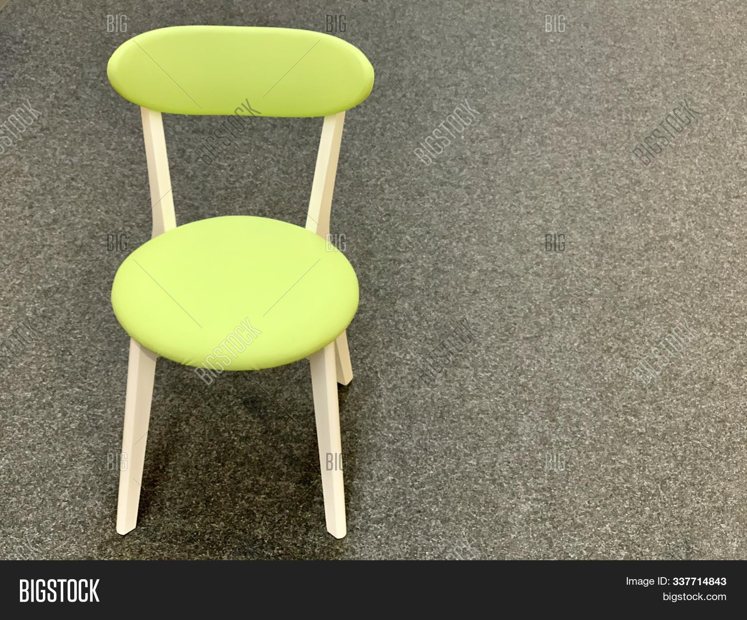 Green Chair Back On Image Photo Free Trial Bigstock