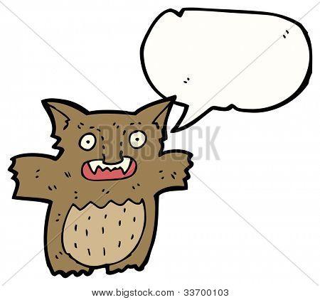 cartoon furry little gremlin