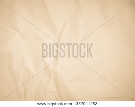 Brown Recycled Craft Paper Texture As Background. Grey Paper Texture, Old Vintage Page Or Grunge Vig