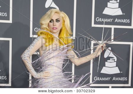 LOS ANGELES - JAN 31: Lady Gaga at the 52nd Grammy Awards at Staples Center in Los Angeles, California on January 31, 2010.
