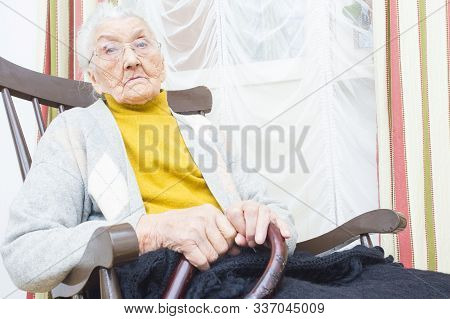 Old Woman In Nursing Home