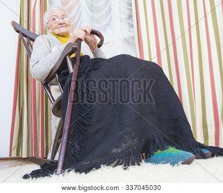Happy Woman In Nursing Home