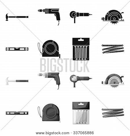 Vector Design Of Household And Repair Sign. Set Of Household And Overhaul Stock Vector Illustration.
