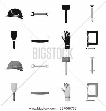Isolated Object Of Renovation And Household Symbol. Set Of Renovation And Handicraft Stock Vector Il