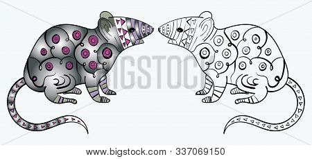 Zentangle Mouse Or Rat Coloring Page Zentangle . . - 2020