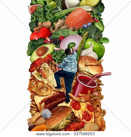 Eating Healthier Or Eat Healthy Nutrition And Diet Concept For Changing Food Habits From High Calori