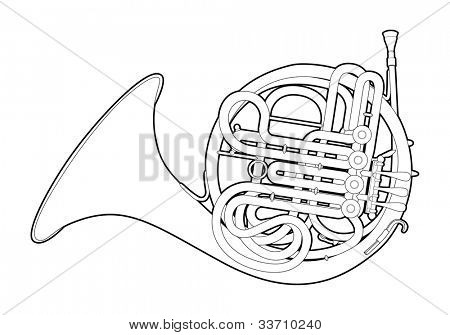 Outline French horn