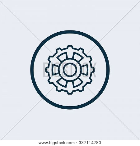 Settings Gears Icon Vector In Modern Flat Style For Web, Graphic And Mobile Design. Settings Gears I