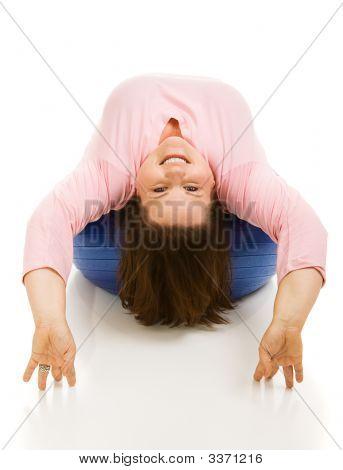 Upside Down On Pilates Ball