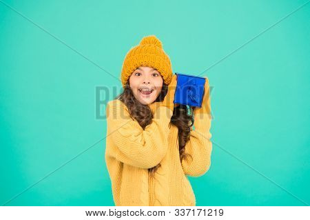 Keepsake Box. Small Girl Warm Clothes Hold Gift. Little Secret Present Box. Pleasant Surprise For He