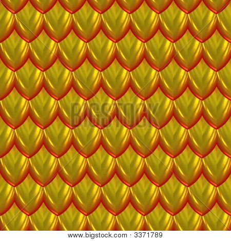 Shiny metallic scales in gold color for background poster