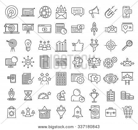 Smm Name Icons Set. Outline Set Of Smm Vector Icons For Web Design Isolated On White Background